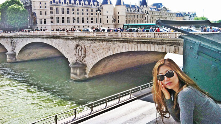 Dr. Kim while on her honeymoon in Paris